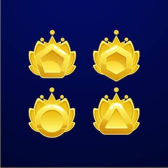 Set di medaglie d'oro