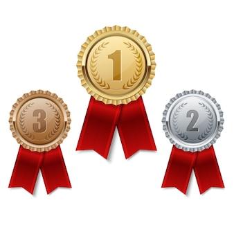 Set di medaglie premio