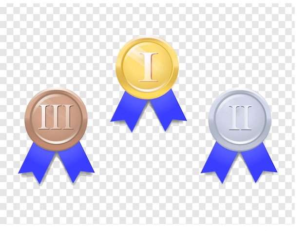 Set di medaglie vettoriali