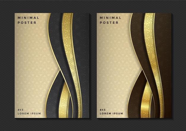 Set di menu elegante copertina geometrica