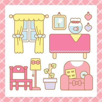 Set di mobili kawaii