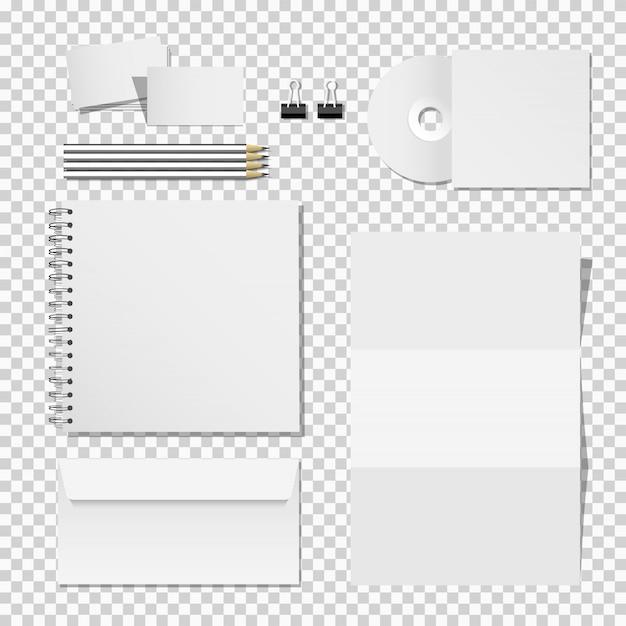 Set di mockup aziendale di modello di materiali di stampa per identità aziendale