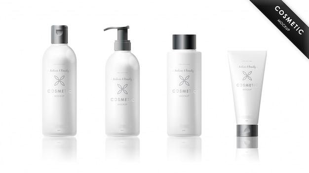 Set di mockup di marca cosmetica realistica