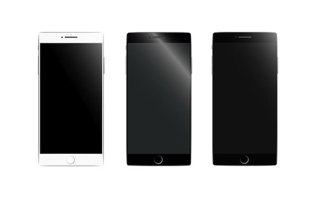 Set di mockup smartphone realistico.