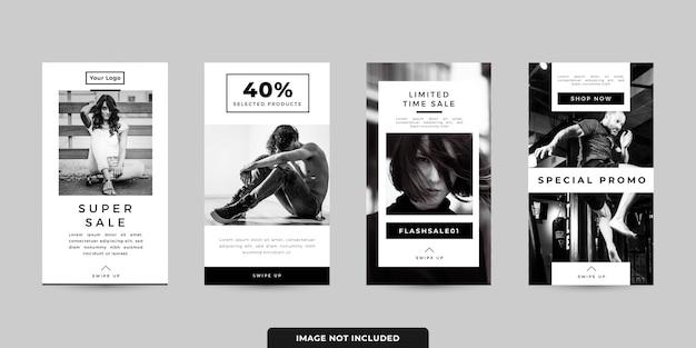 Set di modelli di banner di storie sui social media
