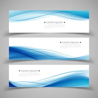 Set di modelli di banner. moderno disegno astratto.