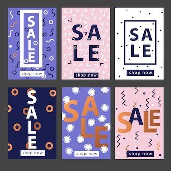 Set di modelli di banner per dispositivi mobili o social media.