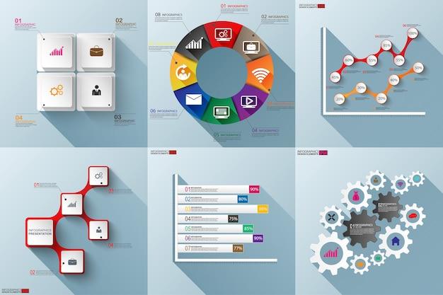Set di modelli di business infografica