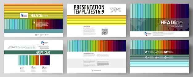Set di modelli di business per diapositive di presentazione.
