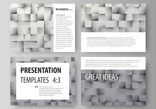 Set di modelli di business per diapositive di presentazione