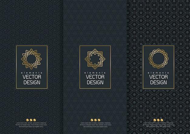 Set di modelli di confezionamento.