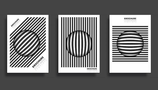 Set di modelli di copertina per flyer, poster, brochure, tipografia o altri prodotti di stampa.