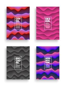Set di modelli di copertine diverse
