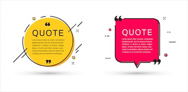 Set di modelli di cornici di citazione.