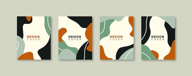 Set di modelli di design copertina universale creativa astratta