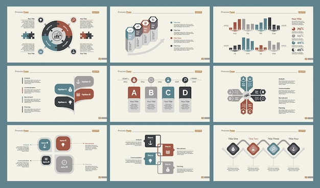Set di modelli di diapositive di formazione