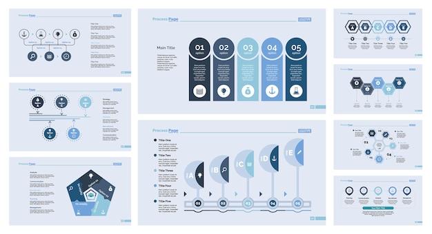 Set di modelli di diapositive di nove modelli