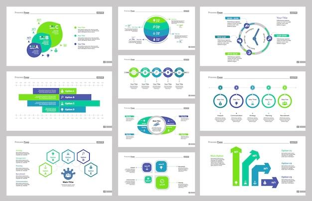 Set di modelli di diapositive di produzione
