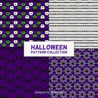 Set di modelli di halloween in design piatto