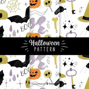 Set di modelli di halloween in design piatto