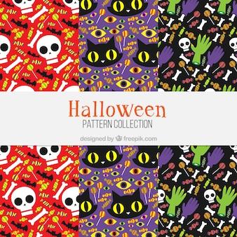 Set di modelli di halloween