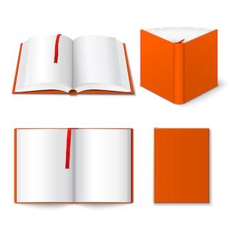Set di modelli di libri aperti