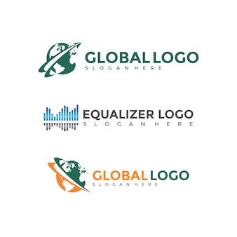 Set di modelli di Logo Design moderno
