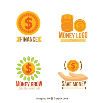 Set di modelli di logo di denaro