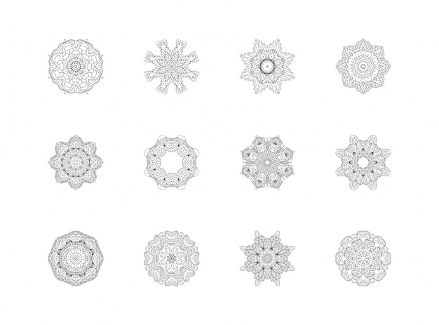 Set di modelli di mandala