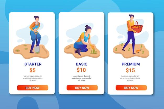 Set di modelli di pacchetti di prezzi