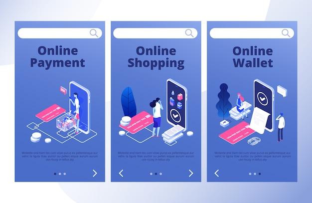 Set di modelli di pagina di destinazione dei pagamenti online