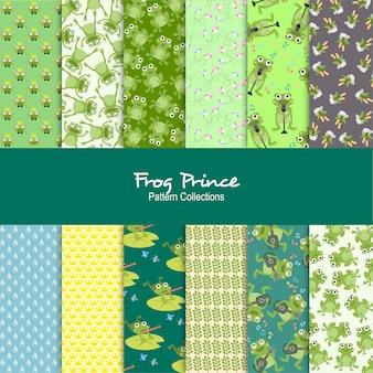 Set di modelli di prince frog