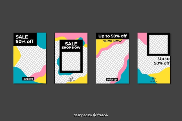 Set di modelli di storie instagram vendita