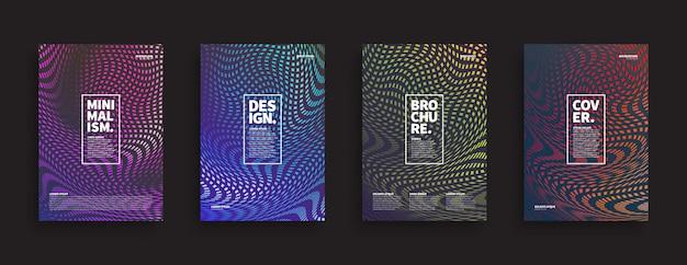 Set di modelli insoliti di brochure