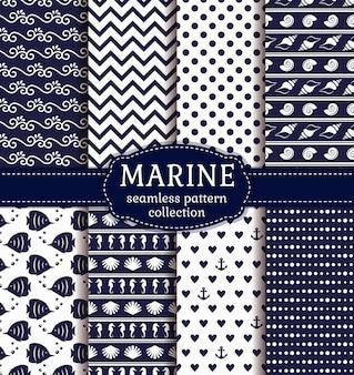 Set di modelli marini e nautici senza soluzione di continuità.