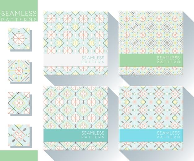 Set di modelli senza cuciture colorate