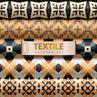 Set di modelli tessili