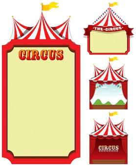 Set di modello del circo