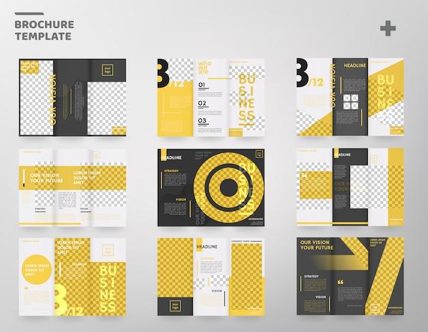 Set di modello di brochure a tre ante