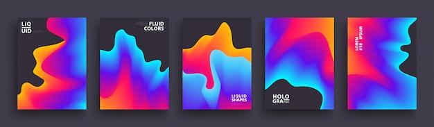 Set di modello di copertine moderne per la presentazione