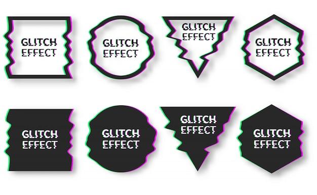 Set di modello di progettazione in stile glitch