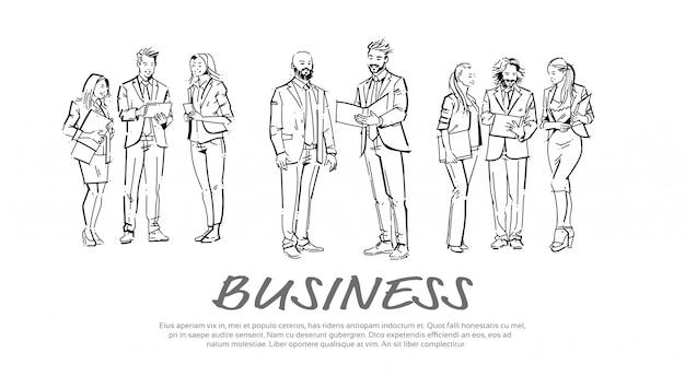 Set di modello di sfondo di uomini d'affari