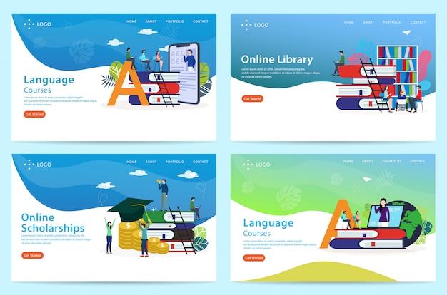Set di modello di sito web