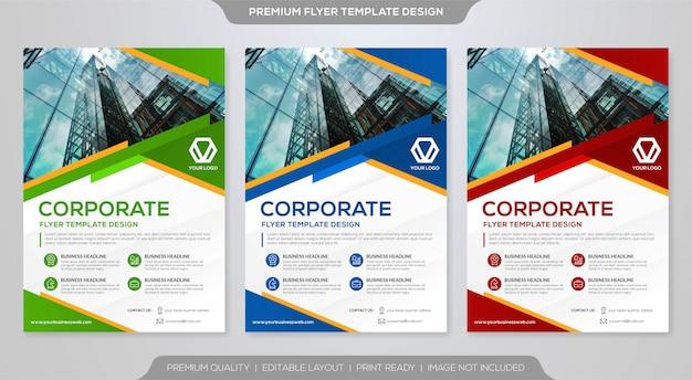 Set di modello di volantino aziendale