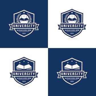 Set di modello logo università