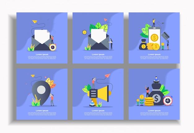 Set di modello piatto, facile da modificare e personalizzare