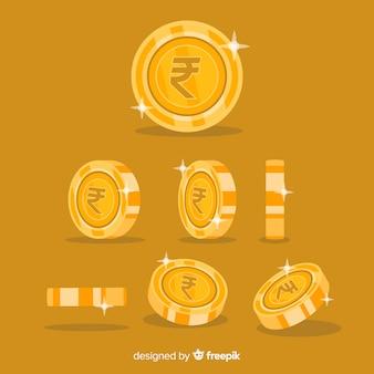 Set di monete rupia indiana