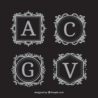 Set di monogrammi eleganti classici