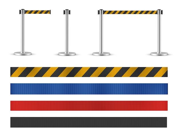 Set di montanti per cintura retrattile senza cuciture