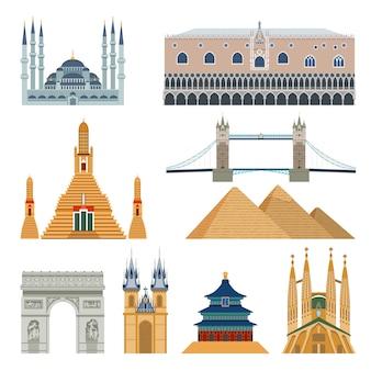 Set di monumenti e monumenti